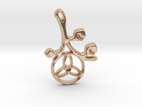 Earthly Spring Triquetra by ~M. in 14k Rose Gold Plated Brass