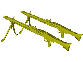 1/24 scale WWII Wehrmacht MG-42 machineguns x 2 in Smooth Fine Detail Plastic