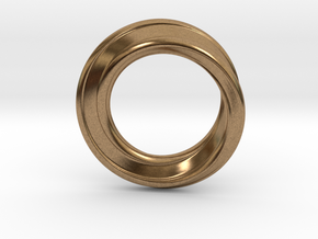 Möbius Strip Ring in Natural Brass