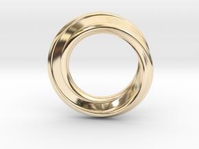 Möbius Strip Ring in 14K Yellow Gold