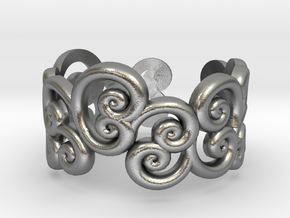 Ring Scroll in Natural Silver