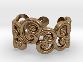 Ring Scroll in Natural Brass