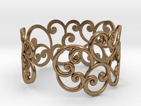 Bracelet Scroll in Natural Brass