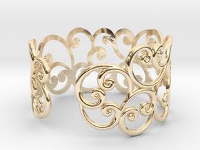 Bracelet Scroll in 14K Yellow Gold