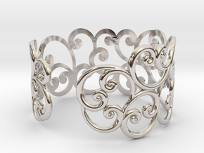 Bracelet Scroll in Rhodium Plated Brass