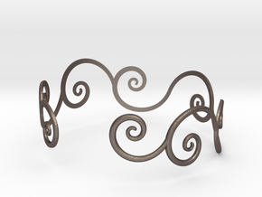 Bracelet Tendril in Polished Bronzed Silver Steel