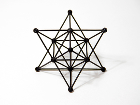 'Sprued' Star Tetrahedron #color in Black Natural Versatile Plastic