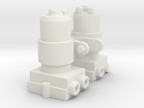 Electric Fuel Pump pair 1/12 in White Natural Versatile Plastic