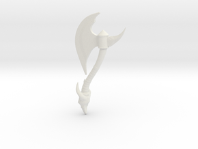 Battle-axe in White Natural Versatile Plastic