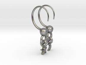 PERDURABO HALF HOOPS in Natural Silver (Interlocking Parts)