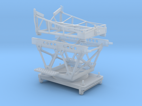 1/48 IJN Trolley & Trailer for Single Float Plane  in Smooth Fine Detail Plastic