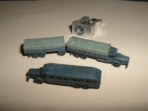 German VOMAG Bus, Truck and Trailer 1/285 6mm in Smooth Fine Detail Plastic