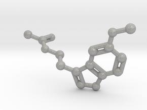 Melatonin Molecule Keychain in Aluminum
