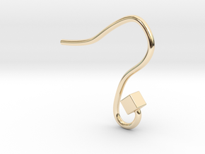 Earring hook square in 14k Gold Plated Brass
