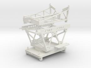 1/32 IJN Trolley & Trailer for Single Float Plane in White Natural Versatile Plastic