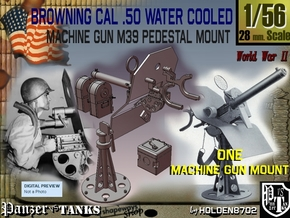 1-56 Cal 50 Pedestal Mount M39 in Smooth Fine Detail Plastic