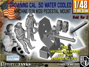 1-48 USN Cal 50 WC Mount M39 & Crew Set in Smooth Fine Detail Plastic