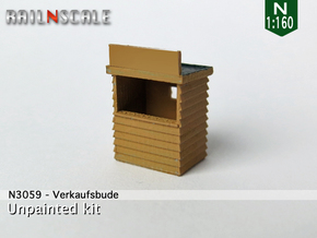 Verkaufsbude (N 1:160) in Smooth Fine Detail Plastic