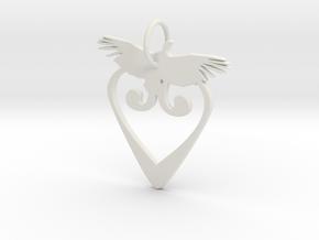 Creator Keychain in White Natural Versatile Plastic