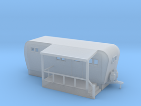 Trailer Mobile Home 20ft - N 160:1 Scale in Smooth Fine Detail Plastic