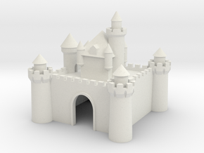 Castle - Ceramic - Z scale in White Natural Versatile Plastic