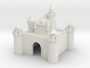 Castle - Ceramic - Z scale in White Natural Versatile Plastic