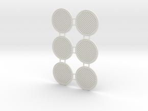 Manhole cover 01. 1:22 scale in White Natural Versatile Plastic
