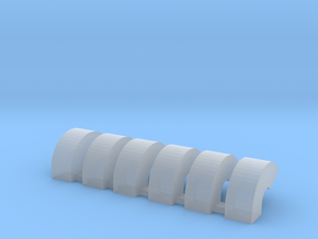 'N Scale' - Six Bin Vents in Smooth Fine Detail Plastic