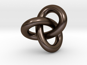 knot in Polished Bronze Steel