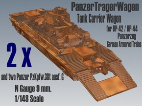 1-148 2x Pz-Tr-W+ PzKpfw 38t For BP-42 in Smooth Fine Detail Plastic