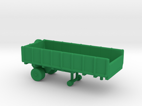 1/245 Scale Cargo Trailer in Green Strong & Flexible Polished