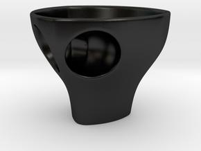 "Holyspresso ""S"" double espresso cup in Matte Black Porcelain"