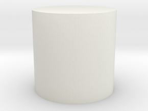 Cylinder Shape in White Strong & Flexible