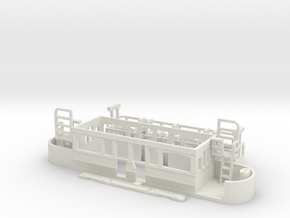 Eastbourne Tramway Car 2 in White Natural Versatile Plastic