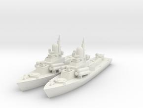 1/600 Nanuchka 1 Missile Corvette x2 in White Natural Versatile Plastic
