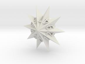 Star Dice in White Natural Versatile Plastic: d10
