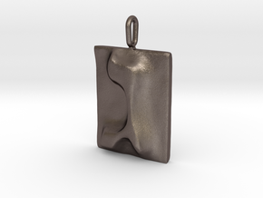 03 Gimel Pendant in Polished Bronzed Silver Steel