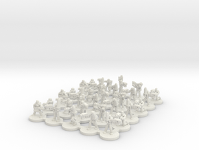 Female Power Armour CC Platoon(6mm) in White Natural Versatile Plastic