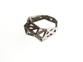 Slim Triangulated Ring in Metal in Stainless Steel: 7.5 / 55.5
