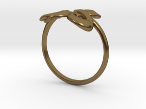Slytherin Snake ring in Natural Bronze: 4 / 46.5