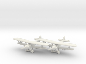 Hawker Hart (two airplanes set) 1/285 6mm in White Natural Versatile Plastic
