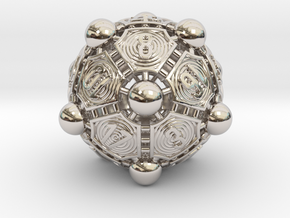 Nucleus D20 XL in Rhodium Plated Brass