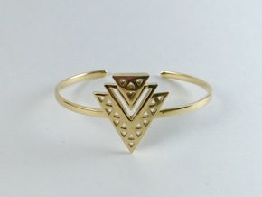 Tiered Cuff in Polished Brass
