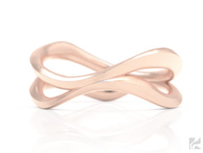 Dual Ring in 14k Rose Gold Plated: 6.5 / 52.75