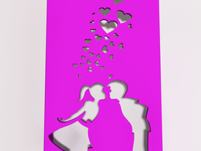 Girl and Boy iphone 5/5s Phone Case in Pink Strong & Flexible Polished