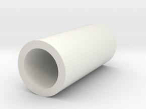 Cap in White Natural Versatile Plastic