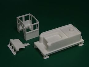 Parts for 2-8-0 conversion B (cab,pilot,tender) in White Strong & Flexible Polished