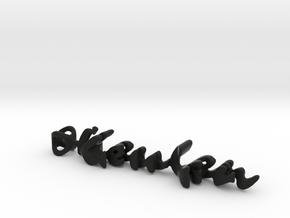 Twine Keychain: Keulen/Femke in Black Natural Versatile Plastic