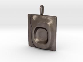 15 Samekh Pendant in Polished Bronzed Silver Steel