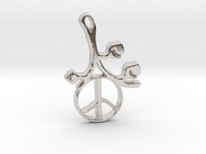 Earthly Spring Peace Sign by ~M. in Rhodium Plated Brass